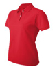 Picture of Ladies Custom Logo Embroidery DryBlend Pique Polo Shirt