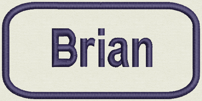 "Picture of Custom Embroidered Name Tag, Patch 3"" x 1.75"""