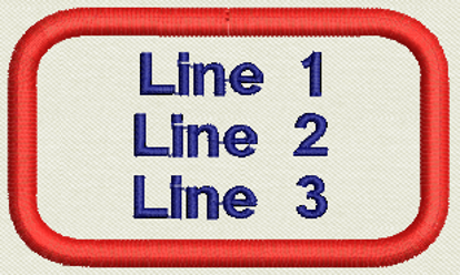 "Picture of Custom Embroidered Name Tag, Patch 3"" x 1.75"" 3 lines"